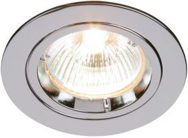 Cast Polished Chrome Fixed GU10 Mains Voltage Downlight