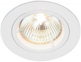Cast Gloss White Fixed GU10 Mains Voltage Downlight