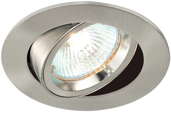 Cast Satin Nickel 30 Degree Tilt GU10 Mains Voltage Downlight