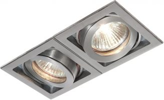 Xeno Twin Adjustable GU10 Recessed Boxed Downlight