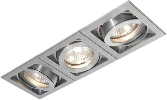 Xeno Triple Adjustable GU10 Recessed Boxed Downlight