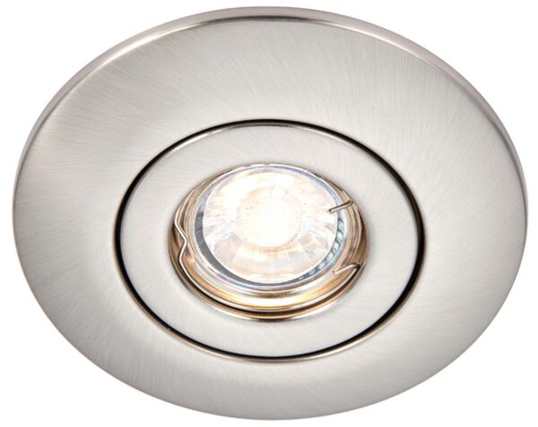 Converse fixed downlight converter for large holes in satin nickel