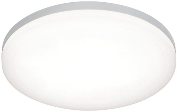 Noble Modern 30cm Round Flush LED Bathroom Ceiling Light Silver