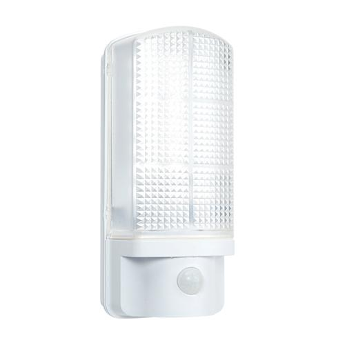 sella rust proof outdoor led sensor light bulkhead in white 54514