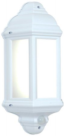 Halbury Traditional LED Outdoor PIR Half Wall Lantern White