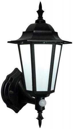 Evesham Traditional LED Outdoor PIR Wall Lantern Matt Black