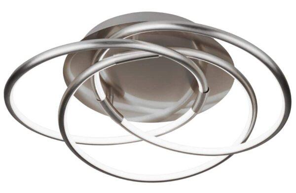 Magic LED 3 rings flush mount ceiling light satin silver
