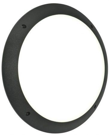 Seran Plain Black 12w LED Outdoor Bulkhead Light IP44