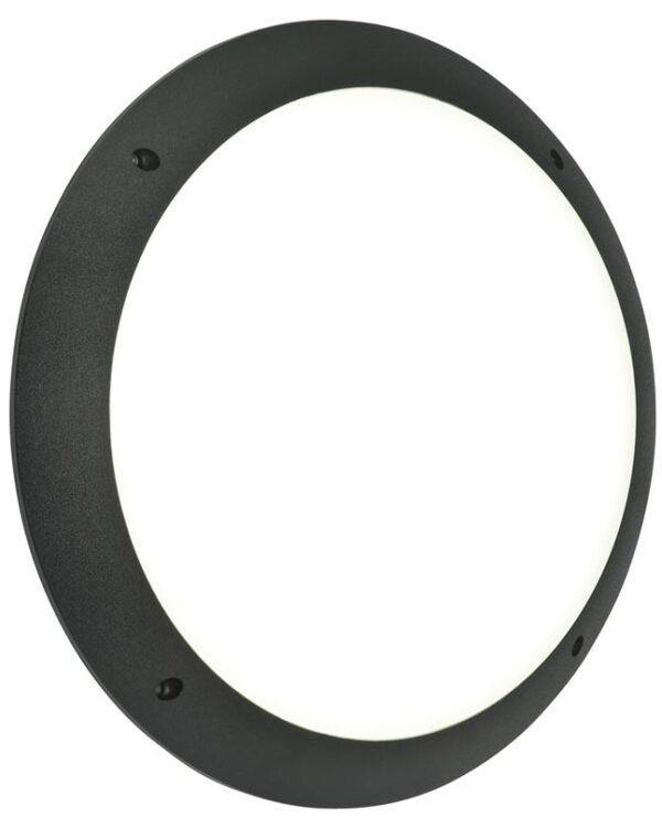 Seran Plain Black 12w LED Outdoor Bulkhead Light IP65