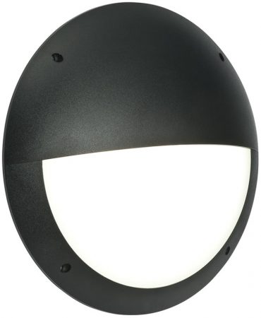 Seran Eyelid Black 12w LED Outdoor Bulkhead Light IP44