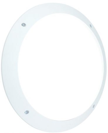Seran Plain White 12w LED Outdoor Bulkhead Light IP44