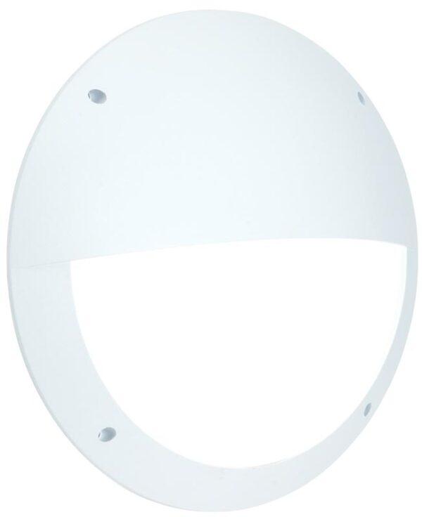 Seran Eyelid White 12w LED Outdoor Bulkhead Light IP65
