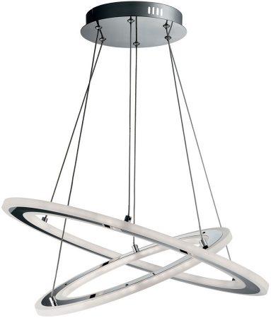 Solexa Polished Chrome 2 Ring LED Pendant Ceiling Light
