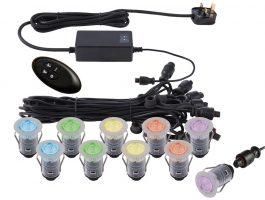 Ikon Pro 10 Light 25mm Remote RGB LED Deck Lighting Kit