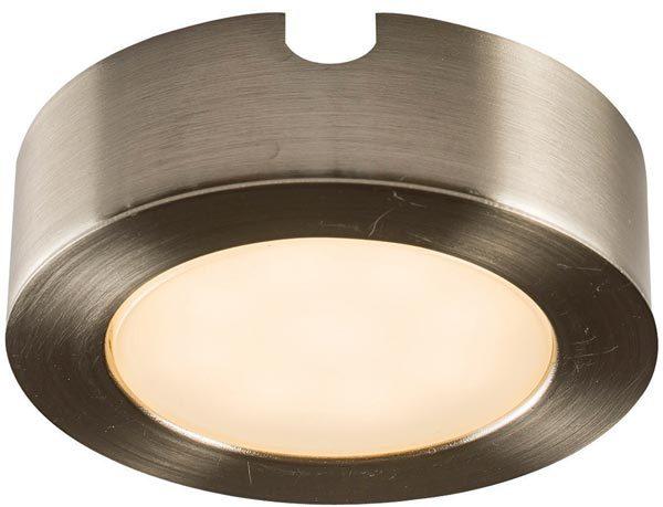 Hera LED Round Satin Nickel Under Cupboard Light