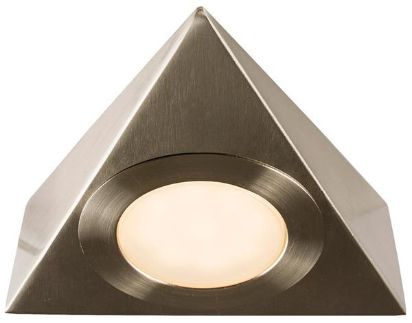 Nyx LED Triangular Satin Nickel Under Cupboard Light