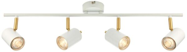 Gull Modern LED 4 Light LED Spotlight Bar White And Satin Gold