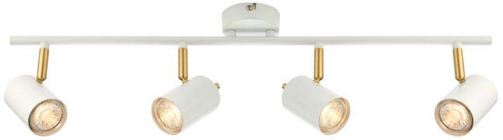 Gull Modern LED 4 Light LED Spotlight Bar White And Satin Gold
