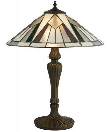 Gatsby 2 Light Tiffany Table Lamp Art Deco Style Resin Base