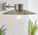 Fenwick Polished Stainless Steel Outdoor Wall Light IP44