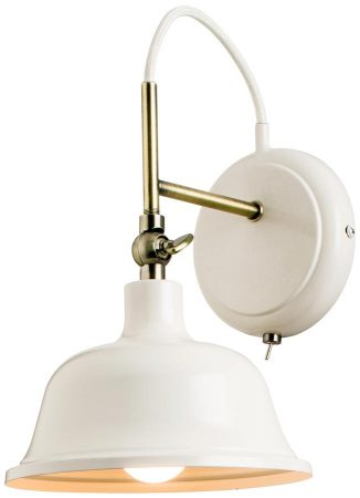 Laughton Country Cream Switched Retro Industrial Wall Light