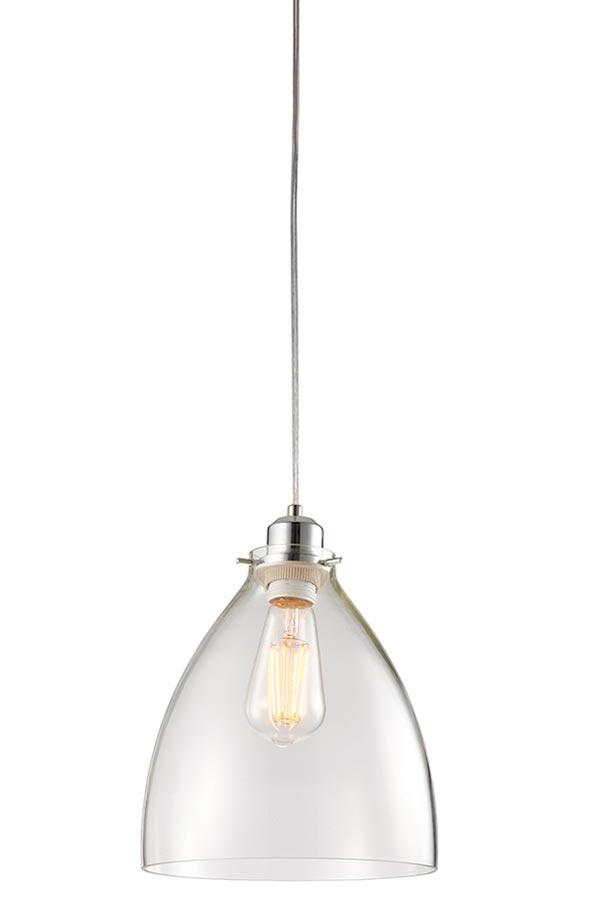 60874 Elstow clear bell glass ceiling pendant shade