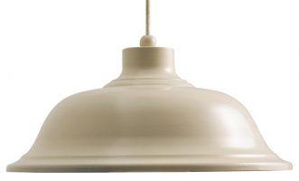 Laughton Medium Country Cream Industrial Kitchen Pendant Light