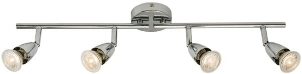 Amalfi Modern 4 Light Ceiling Spotlight Bar Polished Chrome