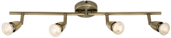 Amalfi Modern 4 Lamp Ceiling Spotlight Bar Antique Brass