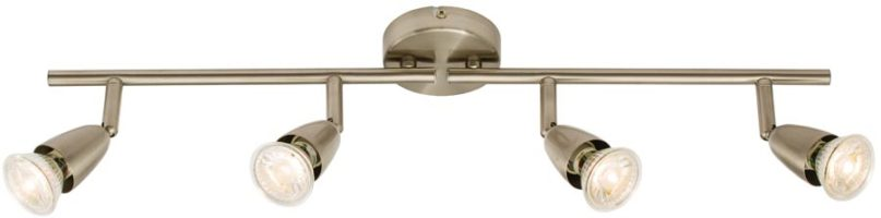 Amalfi Modern 4 Light Ceiling Spotlight Bar Satin Nickel
