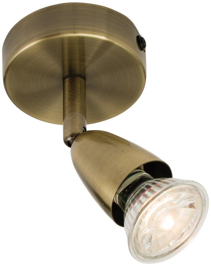 Amalfi Modern Single Wall Or Ceiling Spot Light Antique Brass 60998