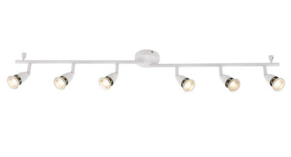 Amalfi Modern 6 Light Ceiling Spotlight Bar Gloss White