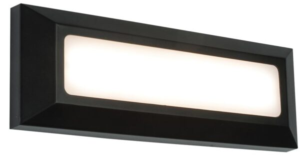 Severus Black Rust Proof Letterbox Outdoor Path Light 3W LED