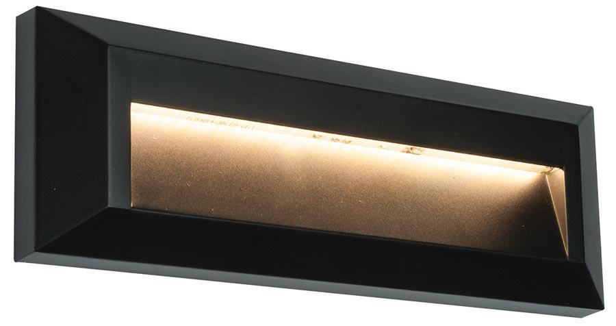 severus black rust proof angled letterbox path light 2w. Black Bedroom Furniture Sets. Home Design Ideas