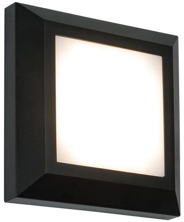 Severus Black Rust Proof Square Outdoor Path Light 3W LED