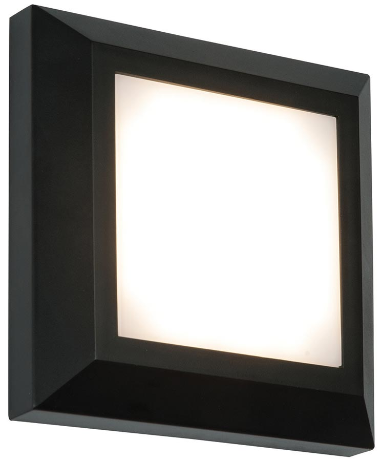 severus black rust proof square outdoor path light 3w led. Black Bedroom Furniture Sets. Home Design Ideas