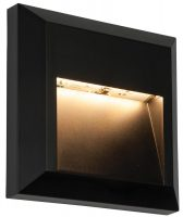 Severus Black Rust Proof Angled Square Path Light 1W LED