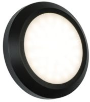Severus Black Rust Proof Round Outdoor Path Light 2W LED