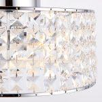 Belfont 3 Light Flush Crystal Drum Bathroom Ceiling Light IP44