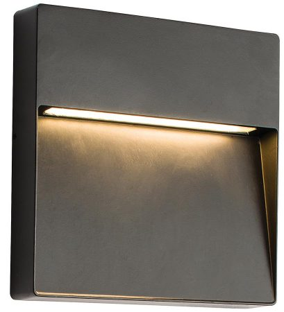Tuscana Black Indirect Square 9w LED Outdoor Wall Light IP44