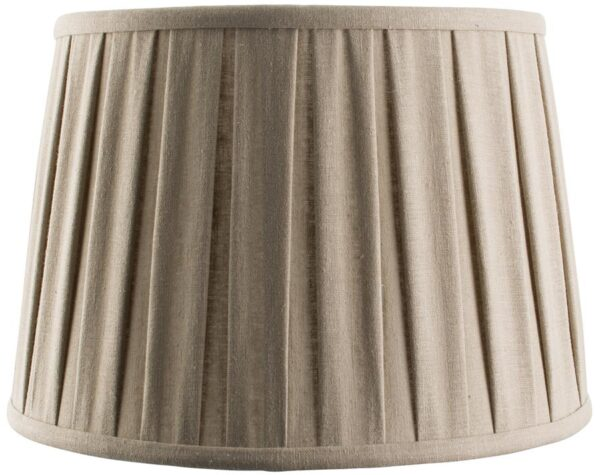 Cleo Faux Linen Pleated Taupe 12 Inch Lamp Shade