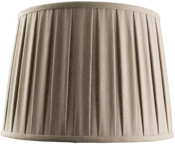 Cleo Faux Linen Pleated Taupe 14 Inch Lamp Shade