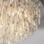 Siena 5 Light Flush Mount Ceiling Light Polished Chrome Crystal