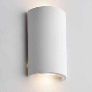 Crescent 2 Light Warm White LED Paintable Plaster Wall Washer