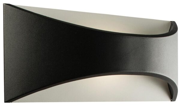 Vulcan Black 300mm 12W LED Outdoor Wall Light IP65