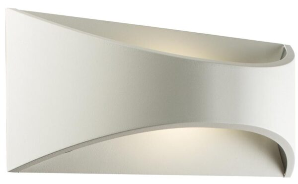 Vulcan White 300mm 12W LED Outdoor Wall Light IP65