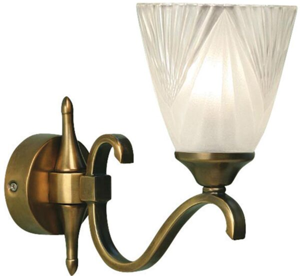 Columbia Traditional Single Antique Brass Wall Light