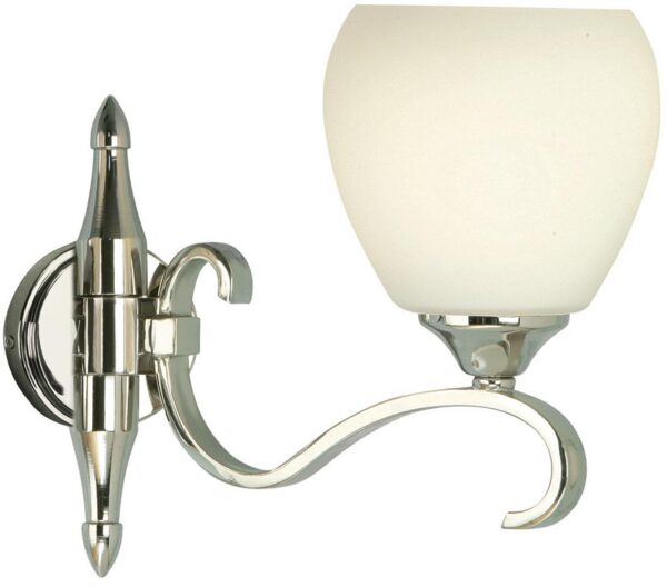 Columbia Traditional Single Nickel Wall Light Opal Shade