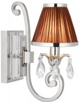 Oksana Nickel Single Wall Light Crystal Drops Chocolate Shade
