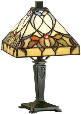 Alcea Art Nouveau Style Mini Tiffany Table Lamp